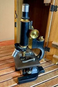 Spencer Lens Co Antique Microscope With Locking Box And Key