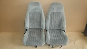 00 02 Camaro Rs Ss Z28 Pewter Cloth Seat Seats Set 1015 2
