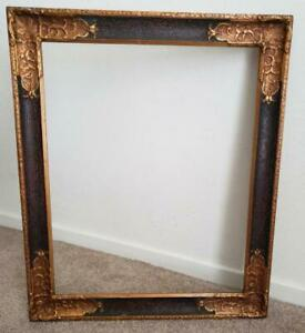 Rare Antique Ornate 15 1 2 X 19 1 4 Wood And Gesso Picture Frame Old Vintage