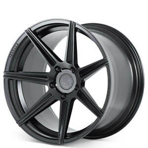 Qty4 20 Staggered Ferrada Wheels F8 fr7 Matte Black Rims Fit Ford Mustang Fh
