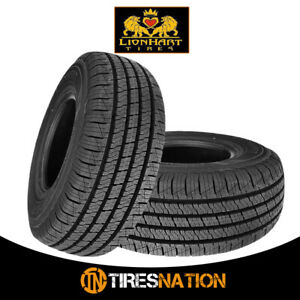 2 New Lionhart Lionclaw Ht P245 65r17 105t All Season Performance Tires