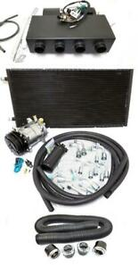Universal Underdash Air Conditioning Heat Cool Ac Evaporator Kit W Hoses Vents