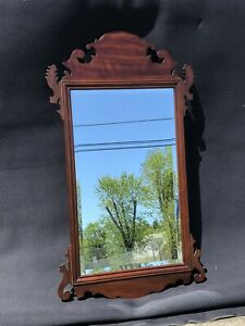 Stickley Cherry Chippendale Style Beveled Mirror