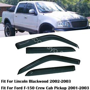 For Ford F 150 Supercrew 2001 2002 2003 Window Visor Rain Guard Tint 4pcs Set