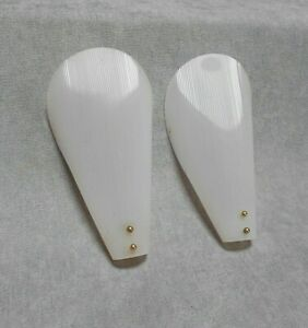 Pair Vintage French Mid Century Modernist Shades For Wall Light Sconces