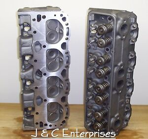 350 Chevy 493 76 Cc Cylinder Heads 1986 Older Early 1 94 Intake New Springs