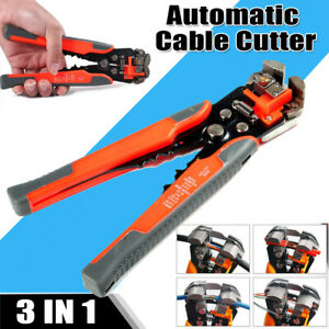 8 Self Adjusting Wire Stripper Cutter Crimper Cable Stripping Plier Work Tool