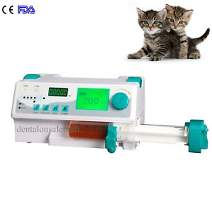 Veterinary Syringe Pump Injection Machine Infusion Pump Alarm Kvo Drug Library