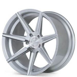 4pcs 20 Staggered Ferrada Wheels F8 fr7 Machined Silver Fit Ford Mustang Fh