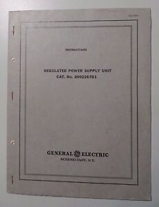 General Electric Tube Type 125v 100 Watt Power Supply Instructions 6992267 G1