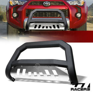 For 2010 2020 Toyota 4runner Matte Blk Avt Edge Bull Bar Push Bumper Guard Skid