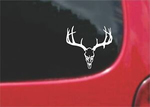 2 Pcs Deer Skull Hunting Stickers Decals 20 Colors To Choose From