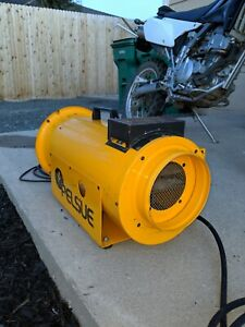 Used Construction Propane Heater Yellow 1590 Pelsue great Condition