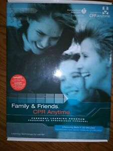 New Family And Friends Cpr Anytime Complete Training Kit With Inflatable Manikin