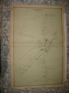 Antique 1874 East Hampton Middlesex County Connecticut Handcolored Map Superb Nr