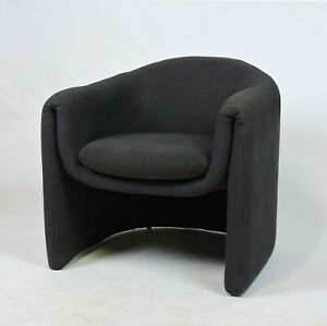 Modernist Barrel Back Club Lounge Chair By Preview