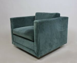 Mid Century Modern Wormley Probber Style Cube Lounge Chair