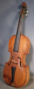 Antique 4 4 Violin Christian Haldeman 1830 Bucks County Pennsylvania Folk Art