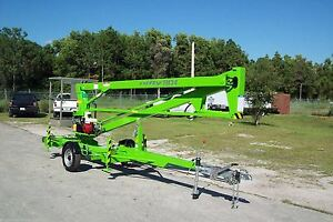 Nifty Tm34m 40 Ft Towable Boom Lift Goes Thru 4 gate 2019s In Stock Now In Fl
