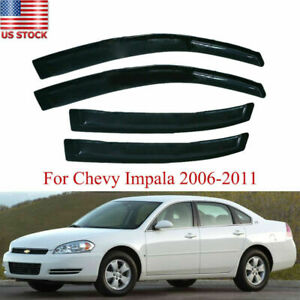For Chevy Impala 2006 2007 2008 2009 2010 2011 Window Visor Rain Guard Wind Sun