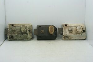 Lot Of 3 Vintage Deadbolt Door Latches