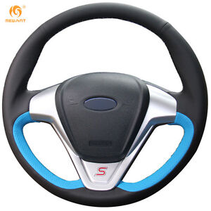 Black Blue Leather Wheel Cover For Ford Fiesta 2008 2013 Ecosport 2013 16 49