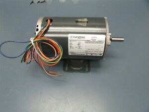 New Marathon 230v 3 Phase Electric Ac Motor Mtr 0021n 5k38rnb375 1 2 Shaft