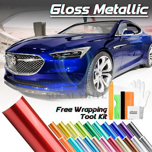 Premium Gloss Metallic Glossy Sticker Decal Vinyl Wrap Air Release Bubble Free