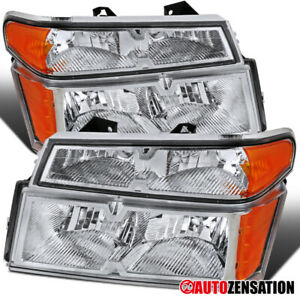 For 2004 2012 Colorado Canyon Clear Headlights W Corner Turn Signal Lamps Pair