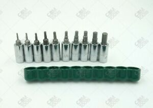 Sk Hand Tools 19731 10pc 1 4 Dr Fractional Hex Bit Socket Set