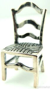 Sterling Silver Miniature Colonial Style Chair 185