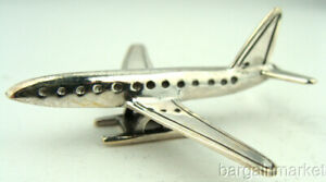 Miniature Sterling Silver Jet Passenger Airplane 051