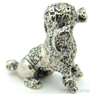 Sterling Silver French Poodle Dog Figurine S54