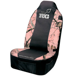 Realtree Girl Pink Camo Seat Cover Camouflage Universal Car Truck Auto