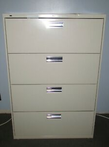 Lot Of 3 Hon 4 Drawer Lateral File Cabinets 36 Wide