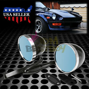 Universal Real Carbon Fiber Hotrod Bullet Muscle Car Vintage Fender Side Mirror