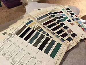 Studebaker Rare Vintage Parts Paint Chips Charts 1937 1954 Complete Set Look
