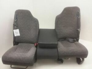 2000 2002 Dodge Ram 2500 Front Bench Seat Set Club Cab Quad Cab Cloth Electric