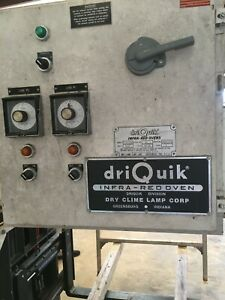 Industrial Driquik Infra Red Oven Used