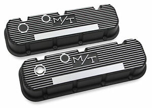 Holley 241 85 M T Valve Covers For Big Block Chevy Engines Satin Black