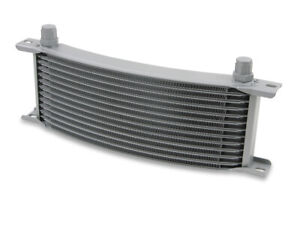 Earls 71306erl Earls Temp A Cure Oil Cooler Grey 13 Rows Narrow Curved