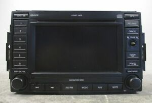 2006 Jeep Grand Cherokee 6 Cd Disc Player Navigation Radio Mp3 Rec Oem