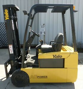 Yale Erp035th 2006 3500 Lbs Capacity Great 3 Wheel Electric Forklift