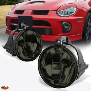 For 03 05 Dodge Neon Srt 4 Oe Style Smoked Lens Front Bumper Fog Light lamp Pair