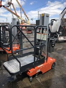 Jlg 12sp 12 Electric Mast Lift Personnel Man Aerial Stock Picker