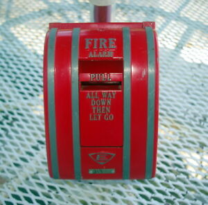 Vintage Edwards Red Fire Alarm Pull Station With Original Box