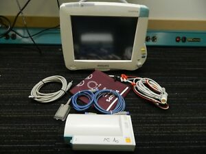 Philips Mp50 Patient Monitor W m3001a Module Ecg Spo2 Nbp tested
