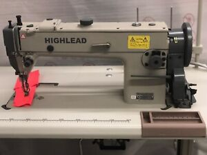 Highlead Gc0388 Industrial Long Arm Walking Foot Sewing Machine Ready To Work
