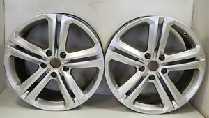 2014 Volkswagen Touareg 20 Wheels Two Rims 5 Double Spoke 7p6 601 025 Ag Oem