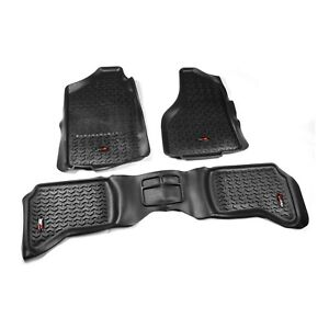 Rugged Ridge Front Rear Floor Mats Dodge Ram 1500 Quad Cab 2002 2011 Black